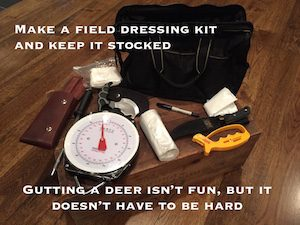 Deer Field Dressing Kit