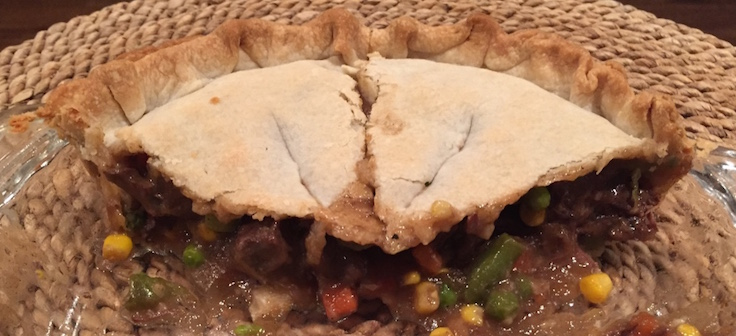 Two people can destroy a good pot pie - make two if you are having company..
