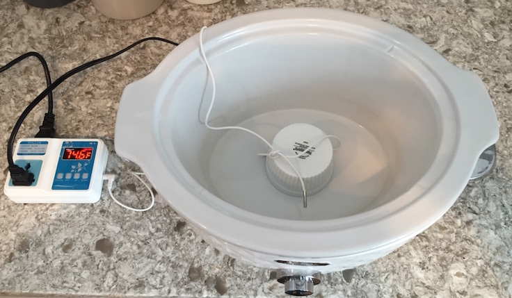 You don't need a lot of fancy equipment to cook sous vide - an inexpensive temperature control relay can turn your crockpot into a sous vide machine.