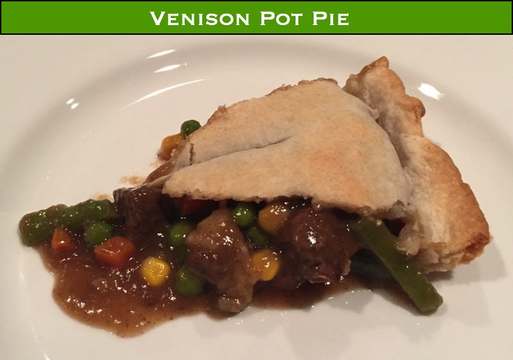 Venison Pot Pie - When it's 0 degrees out, warm up with some braised venison in a crispy crust!