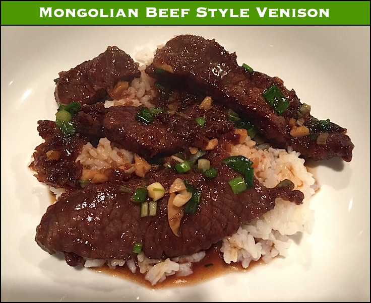 This is a quick and easy venison meal with an asian flare and a bit of sweetness.